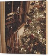 Christmas Card Wood Print by Donald Torgerson