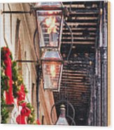Christmas Card New Orleans Wood Print