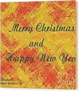 Christmas Cards And Artwork Christmas Wishes 37 Wood Print