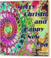 Christmas Cards And Artwork Christmas Wishes 38 Wood Print