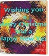 Christmas Cards And Artwork Christmas Wishes 72 Wood Print