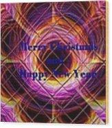 Christmas Cards And Artwork Christmas Wishes 75 V Wood Print