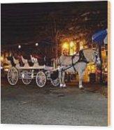 Christmas Carriage Wood Print