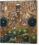 Christmas Chandelier Wood Print