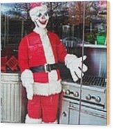 Christmas Clown Wood Print