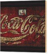Christmas Coca Cola 1881 Santa Wood Print