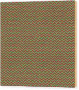Christmas Colors Chevron Wood Print
