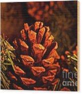 Christmas Cone Wood Print