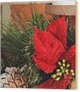 Christmas Decor Close Wood Print