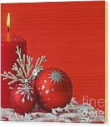 Christmas Decoration Background Wood Print