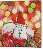 Christmas Dog Wood Print