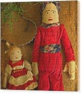Christmas Dolls Wood Print
