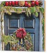 Christmas Door 8 Wood Print