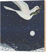 Christmas Dove Wood Print