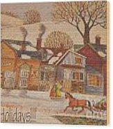 Christmas Eight Wood Print