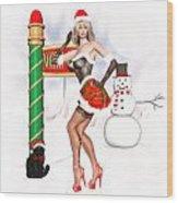 Christmas Elf Cleo Wood Print by Renate Janssen
