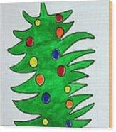 Christmas Fir-tree Wood Print