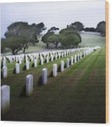 Christmas Fort Rosecrans National Cemetery  Wood Print