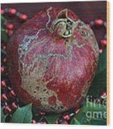 Christmas Fruit Wood Print