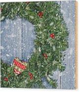 Christmas Garland Wood Print