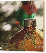 Christmas Gold Wood Print