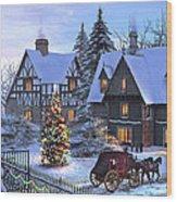 Christmas Homecoming Wood Print