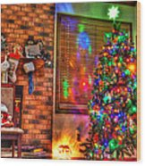 Christmas In Hdr Wood Print