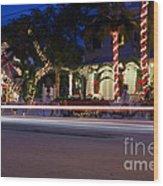 Christmas In Key West Wood Print