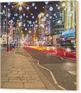 Christmas In London Wood Print