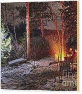 Christmas In Maine N0088 Wood Print
