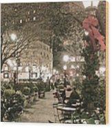 Christmas In Manhattan Wood Print