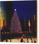 Christmas In New York Wood Print