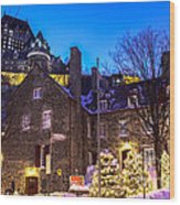 Christmas In Quebec Wood Print