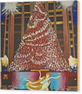 Christmas In The City Wood Print