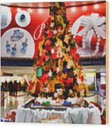Christmas In The Train Station Wood Print