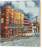Christmas In Villa Rica 1950's Wood Print