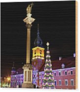 Christmas In Warsaw Wood Print by Artur Bogacki