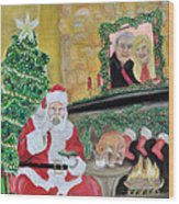Christmas Is For Sharing Wood Print by Danae McKillop