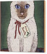 Christmas Kitten Wood Print