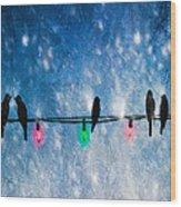Christmas Lights Wood Print by Bob Orsillo