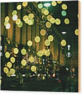 Christmas Lights In Oxford Streeet Wood Print