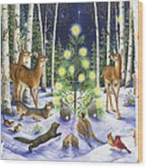 Christmas Magic Wood Print by Lynn Bywaters