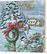 Christmas Mail Wood Print