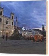 christmas market in Banska Bystrica Wood Print