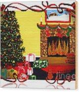 Christmas - Memories - Ribbons - Bows Wood Print