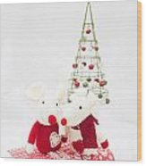 Christmas Mice Wood Print