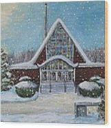 Christmas Morning At Our Lady's Church Wood Print
