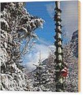 Christmas Morning At Redstone Wood Print