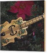 Christmas Music Wood Print