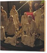 Christmas Nativity Of Baby Jesus Wood Print